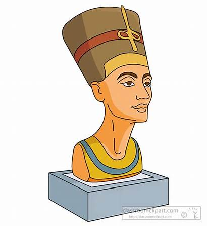 Egyptian Ancient Nefertiti Statue Egypt Clipart Transparent