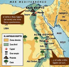 Mapa Antiguo Egipto  Egipto  Pinterest  Egipto, Egipto