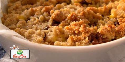 recette crumble aux pommes et m 251 res au micro ondes tr 232 s facile et rapide