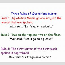 Smart Exchange  Usa  Quotation Mark Rules