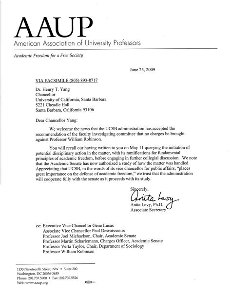 Letters from Scholarly Organizations | Committee to Defend