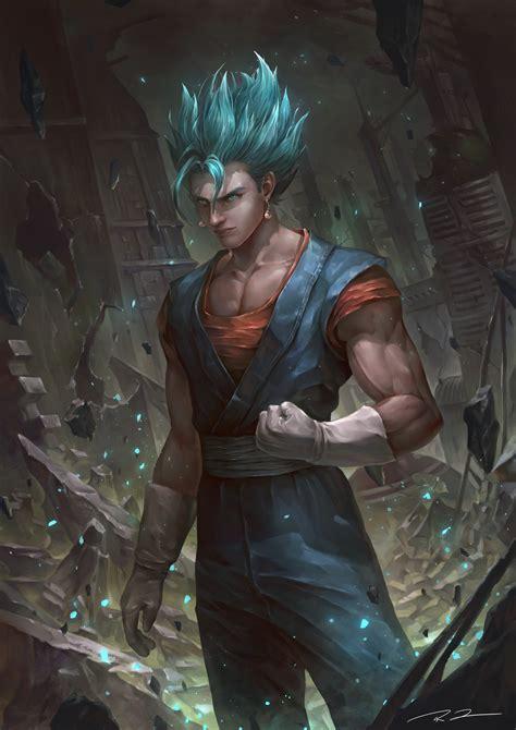 artstation blue vegito  dragon ball super ren tu