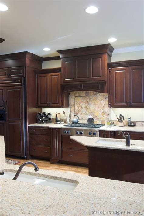 pictures  kitchens traditional dark wood cherry
