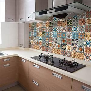 Stickers Carreaux De Ciment Cuisine : 9 stickers carreaux de ciment azulejos brenno cuisine ~ Melissatoandfro.com Idées de Décoration
