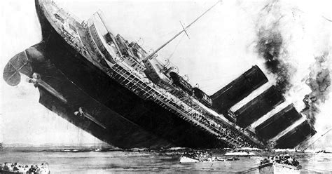lusitania sinks in real time one hundred years after the lusitania was torpedoed david