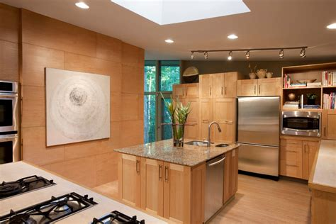 kitchen with light wood cabinets modern oak kitchen design peenmedia 8757