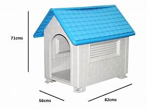 Large waterproof outdoor indoor plastic pet puppy dog for Hard plastic dog house