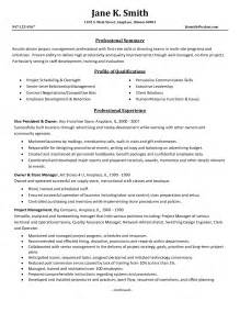 Resume Ideas For Project Managers by Project Management Skills Resume Berathen