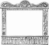 Puppet Theater Shadow Coloring Pages Puppets Theatre Stage Template Curtain Cardboard Paper Templates Making sketch template