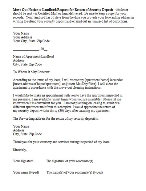 eviction notice templates sample letters