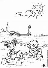 Coloring Pages Beach Printable Scenery Related Posts Funny sketch template