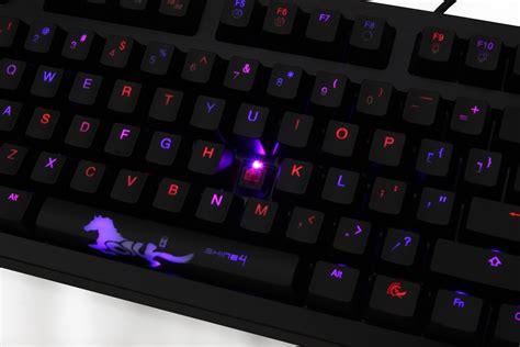 ducky shine  blue red led backlit mechanical keyboard