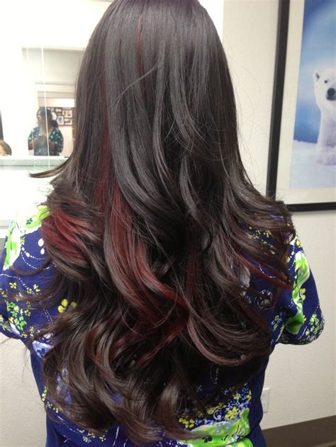 81 Best Images About Black And Crimson Hair On Pinterest