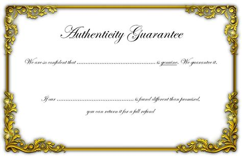 Certificate Of Authenticity Template Jewelry Certificate Of Authenticity Template Images