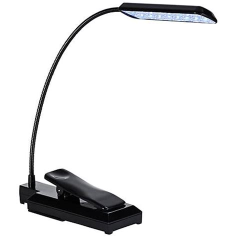 clip on lights black led battery powered clip on gooseneck book light