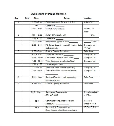 Training Records Meeting Template Download by Search Results For Template For Training Itinerary