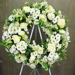 Classic White Funeral Wreath