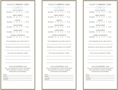 french restaurant comment card images frompo