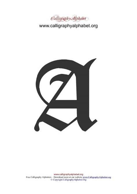 english calligraphy alphabets