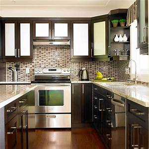 kitchen backsplash ideas with white cabinets and dark With kitchen cabinets lowes with silver and gold wall art