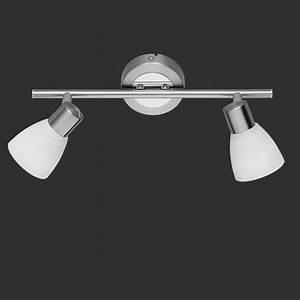 Led Deckenstrahler 2 Flammig : lhg led wand oder deckenstrahler nickel matt und chrom ~ A.2002-acura-tl-radio.info Haus und Dekorationen