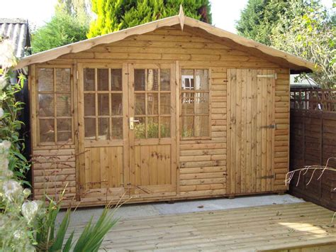 12x8 shed log cladding mb garden building