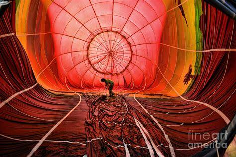the balloonist inside a hot air balloon photograph by paul ward