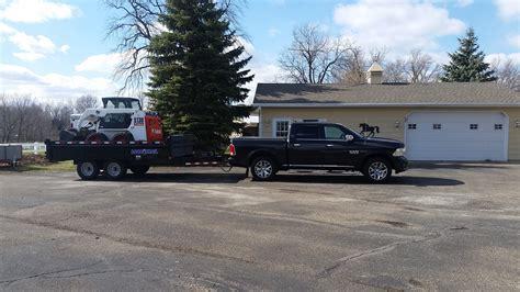 limited eco diesel pulling dump trailer  bobcat page