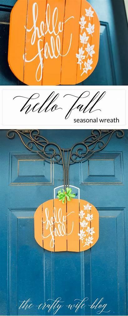Fall Hello Wreath Stencil Silhouette Diy Simplymadefun