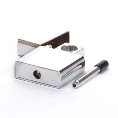 metal zippo pipe marijuana packaging