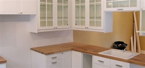 armoire cuisine en bois installation de cuisines ikea cjc construction