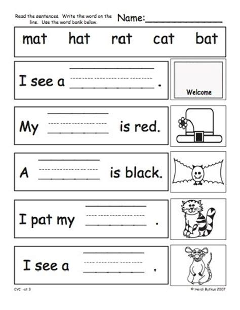 Cvc Worksheets Pdf  Google Search  Phonics  Pinterest  Kindergarten, Search And Worksheets