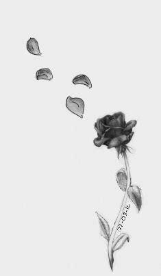 Rose with falling petals | Tattoos | Tattoos, Rose tattoos, Tattoo designs