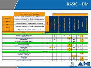 rasic example from a six sigma project With rasic template