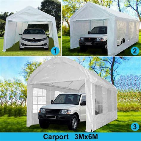 quictent   heavy duty carport garage car shelter storage canopy party tent ebay