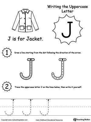 writing uppercase letter j babysitting daycare ideas 440   4773886fa64297eb4ae72a8f4d4f6ac2
