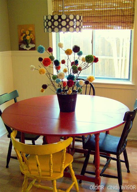 centerpiece ideas for kitchen table and wisor quot pom quot trees a free centerpiece idea