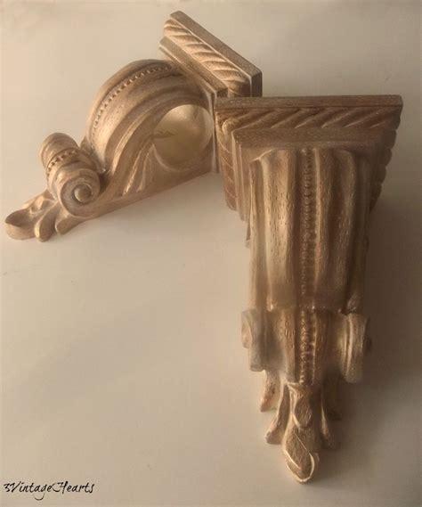 drapery sconce vintage drapery bracket corbels curtain rod holders