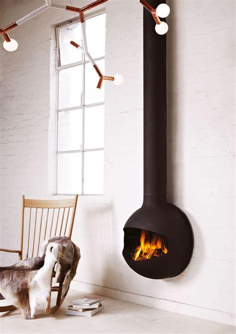 emifocus spherical wall hung fireplace oblica designer