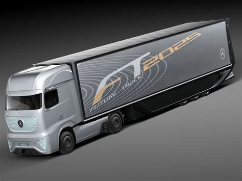 mercedes ft 2025 future truck with tr 3d max obj 3ds fbx c4d lwo lw lws cgtrader