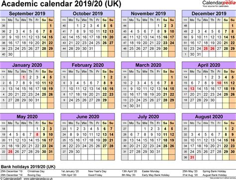 academic calendars printable templates