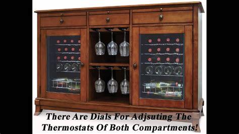 wine credenza  refrigerator great wine cooler cabinet furniture youtube