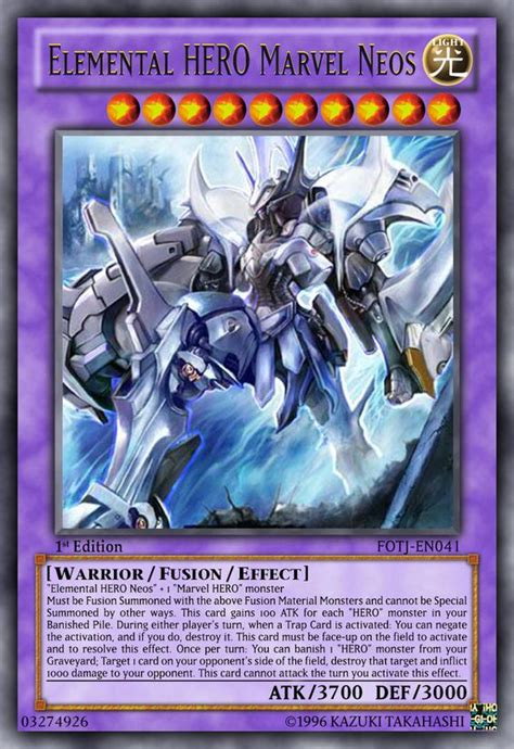 Elemental Structure Deck by Elemental Marvel Neos By Lightkeyblademaster On