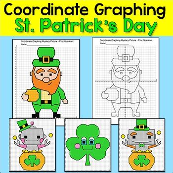 st patricks day math coordinate graphing ordered pairs