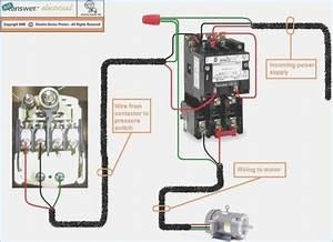 Magnetic Motor Starter Wiring Diagram For Compressor