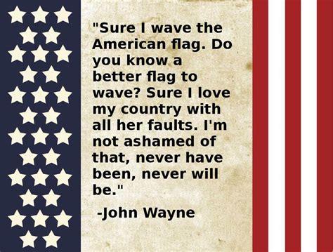 John Wayne: Sure I Wave the American Flag – Do you know a ...