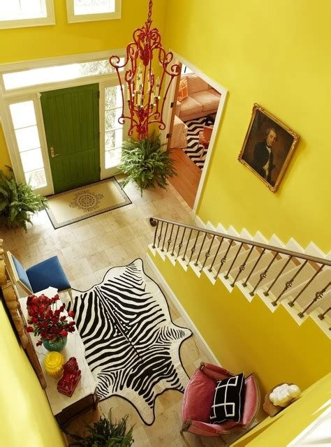 walls painted  tasteful yellows interiors  color
