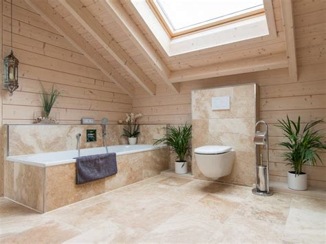 salle de bain travertin le chic noble de la