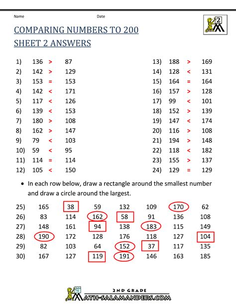 worksheet comparing numbers worksheets 3rd grade grass