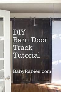 Home interior kitchen design barn door track system for Barn style door track system